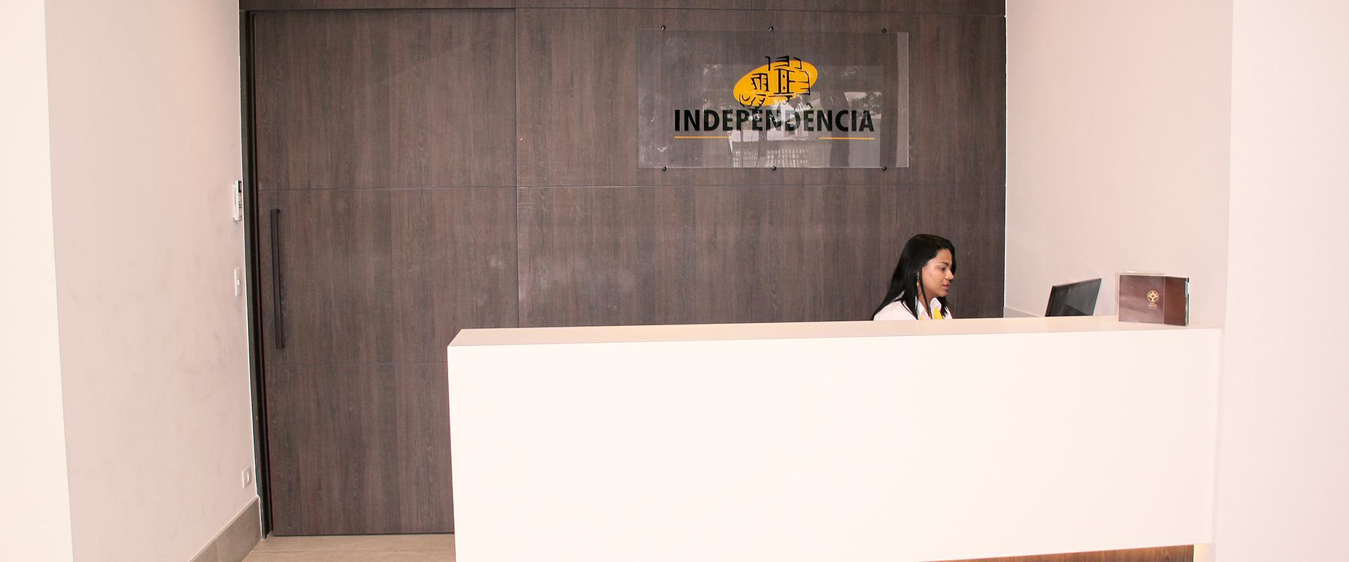 Recepção da sede Independência